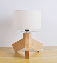 tripod bamboo solid wooden table lamp