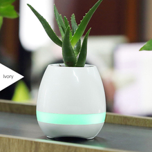 High-Tech Smart LED Light Music Flower Pot Bluetooth With Touch Plant Sing songs