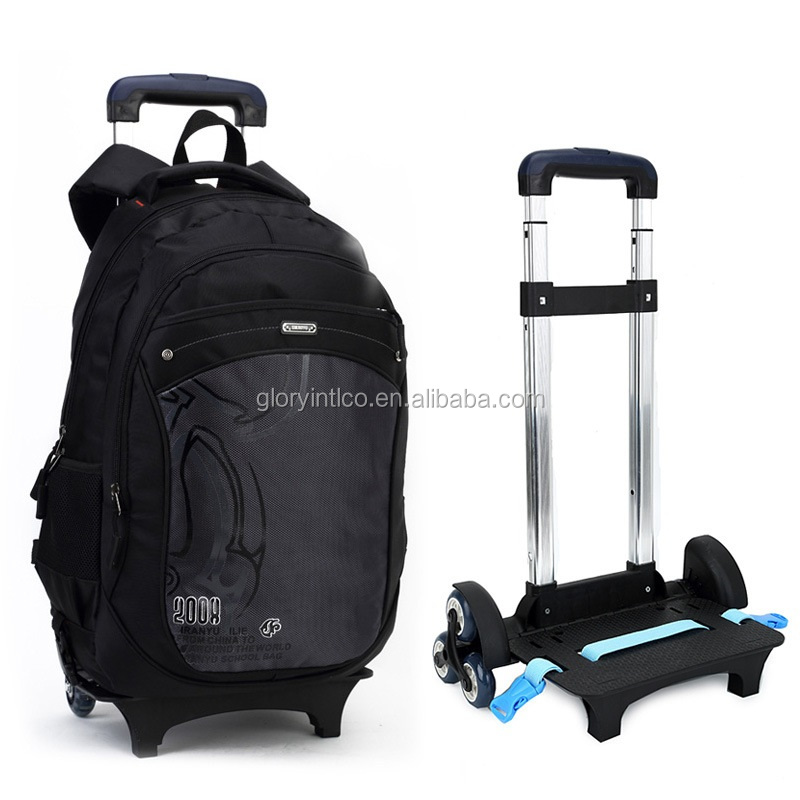 student school trolley bag removabled and foldable with wheels luggage bag