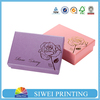Pearlized hard cardboard gift boxes, cardboard display boxes with logo hot stamping