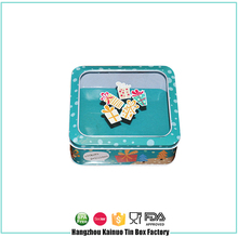 China Supplier Box With Hinge Lid Rectangular Cosmetic Tin Cans