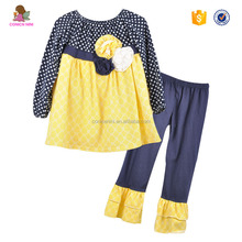 CONICE NINI Casual Style Polka Dots And Yellow Decorative Pattern Kid Clothes Boutique Outfit
