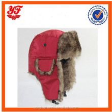 Red plain color outdoor sports ski sport winter hat