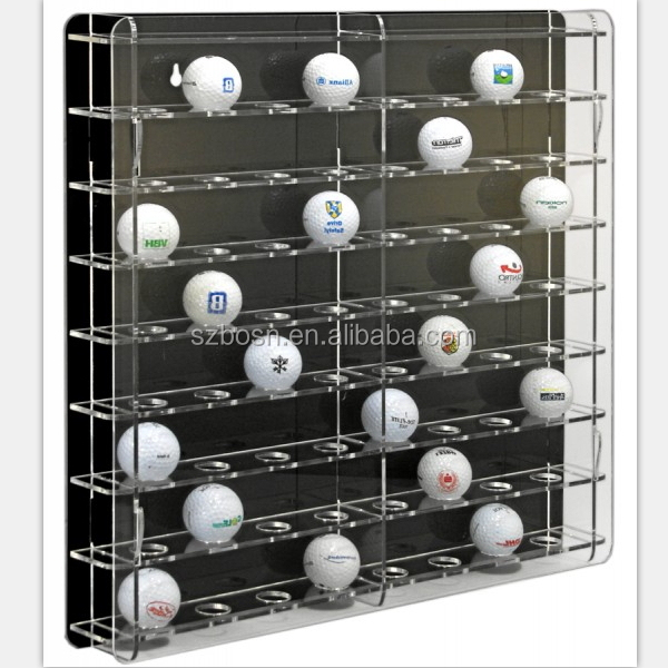 Golf Ball Holder Cube - Acrylic Display Case by BallQube(6 Box)