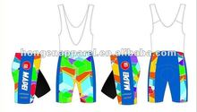 Hot sale coolmax cycling jerseys, OEM mens bicycle bib shorts, mens cycling wear