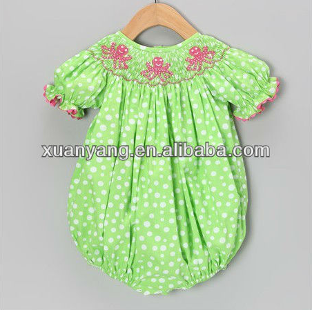 new fashion modle different types of simple neck design baby girl princess cutting handmade smocked blouse dress