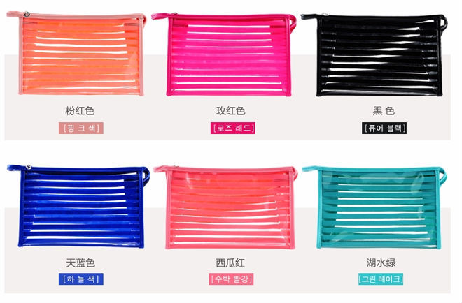 Popular hot sale pvc transparent cosmestic handbag