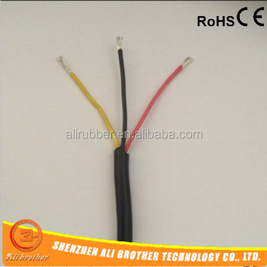 3 core silicone rubber electrical cable 3*1mm