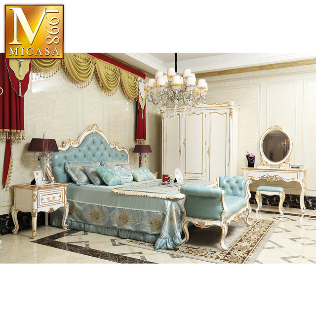 Fancy Bed Room Furniture Bedroom Set Foshan Luxury French Style European Bedroom Furniture Set