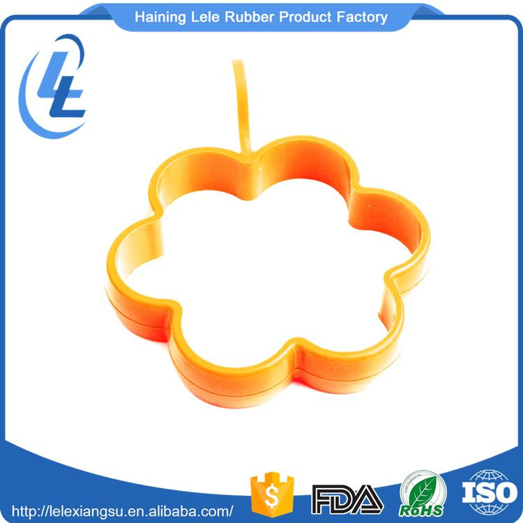 DIY flower shape design fried circle pancake silicone egg poach mould