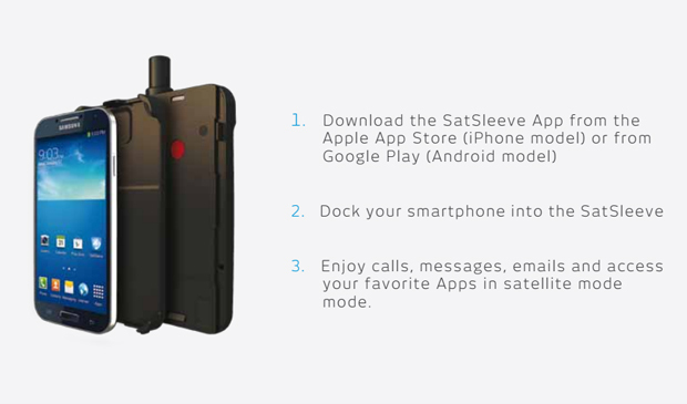 SatSleeve for Android mobile phone Thuraya, View High ...