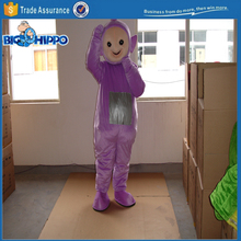 Purple teletubby professional design cartoon character high quality custom mascot costume