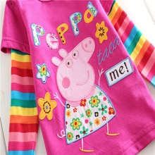 Kids Cartoon Cute T-Shirt 100% Combed Cotton African Print Clothes Little Girls Tee Shirt