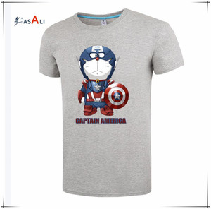 Oem cartoon character printed t-shirt wholesale marvel cartoon super hero t-shirt custom