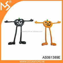 Halloween party gift pumpkin bendable toy action figure