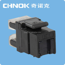 CHNOK brand 180 degree stp/ftp rj45 connector 8p8c tool-free RJ45 CAT5E keystone jack