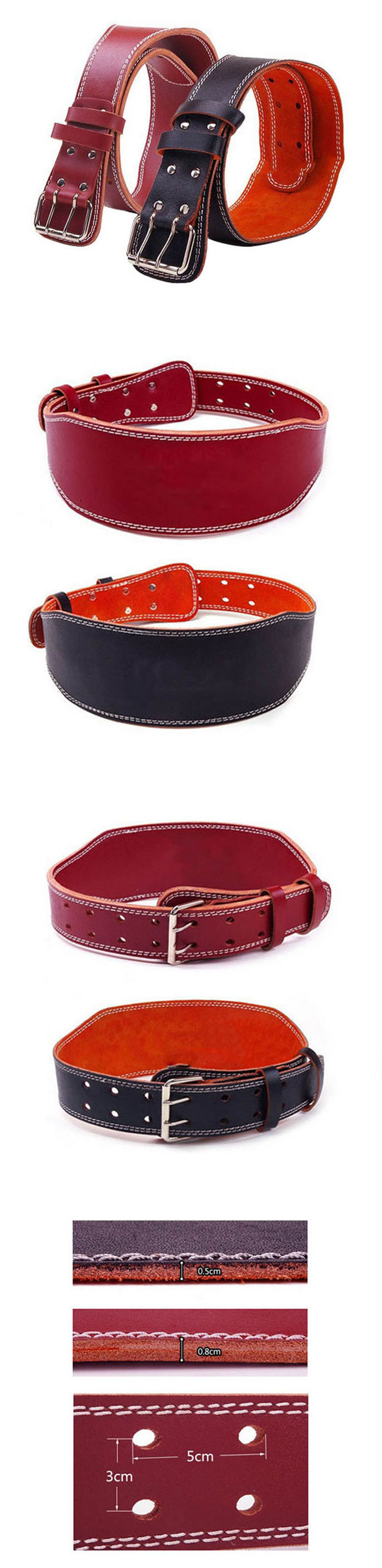 China factory professional custom leather weightlifting belt