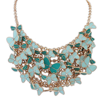 fashion cheap costume jewelry bib statement necklac
