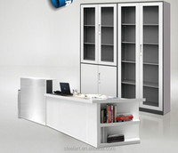Simple design low price glass library steel cupboard