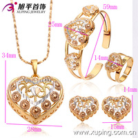 63005-Xuping Fashion Heart Shape Wedding Bridal Jewelry Sets