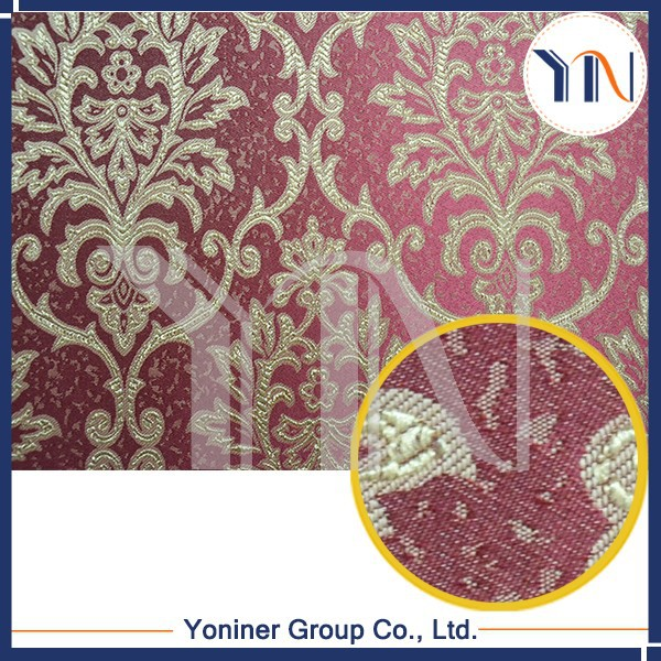 Red jacquard wall fabrics, wall tile coverings, unitized curtain wall