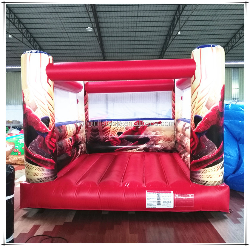 Guangzhou Professional Manufacturer Custom Bouncy Castle Kids Spiderman Inflatable Bounce House For Sale