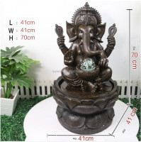 Resin GANESH buddha water fountain