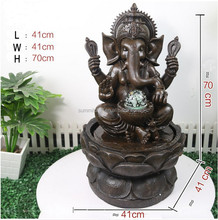 Resin indoor GANESH buddha indian god buddha water fountain