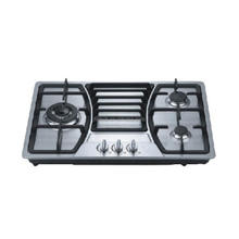 cheap cast iron 3 rings gas stove, stainless steel gas hobs