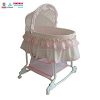 Pink Electric music swing baby cradle/bassinet/crib/bed |newborn infant daycare nursery cradle
