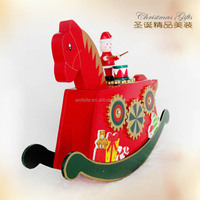 2017 Factory direct sale Christmas decorations Music box rocking horse Holiday gift Birthday gift for children