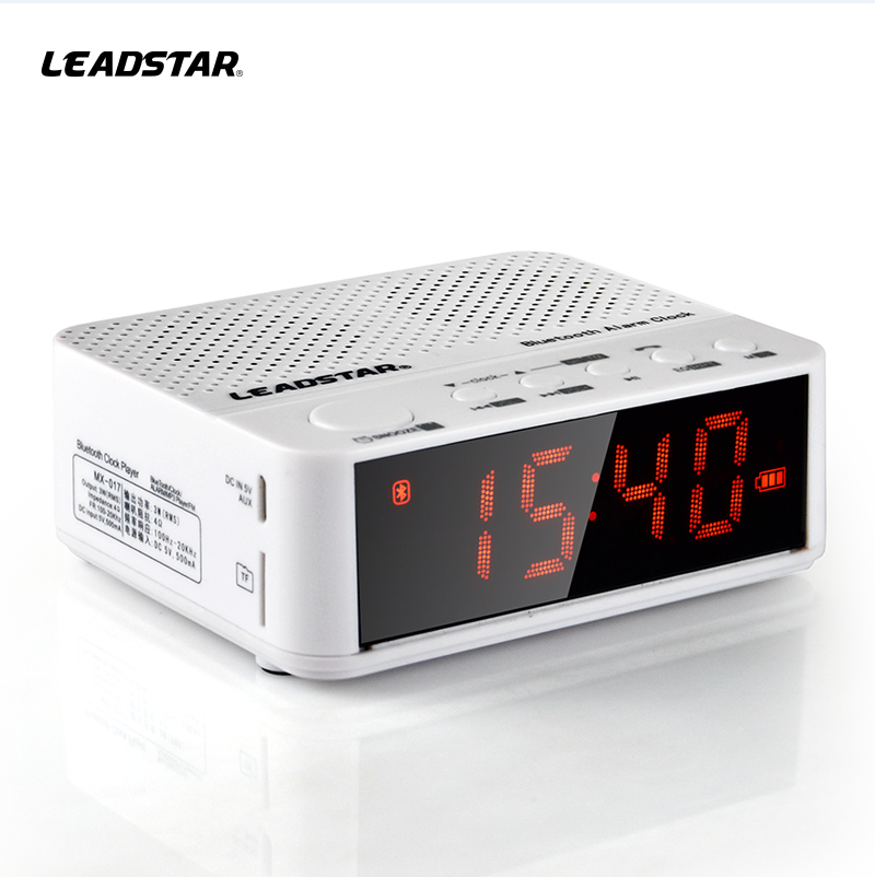 High quality wireless bluetooth portable speaker with alarm clock