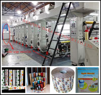 China plastic films roto gravure printing machine price