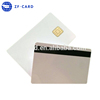 Customized plastic blank sle4428 emv chip card with magstripe