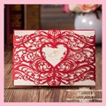 Hot sale Paper Delicate and Romantic High Quality Paper Crafts Wedding Invitations Laser Cut Invitation Card