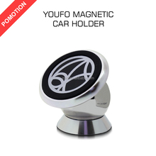 Pomotion Universal 360 Degree Rotation Magnetic car phone holder For all smart phones Steelie