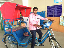 Environment friendly pedicab rickshaw and offer spare parts together