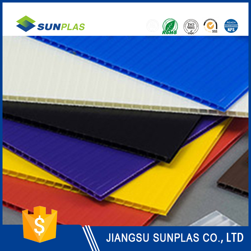 factory price black plastic pp hollow board sheeting