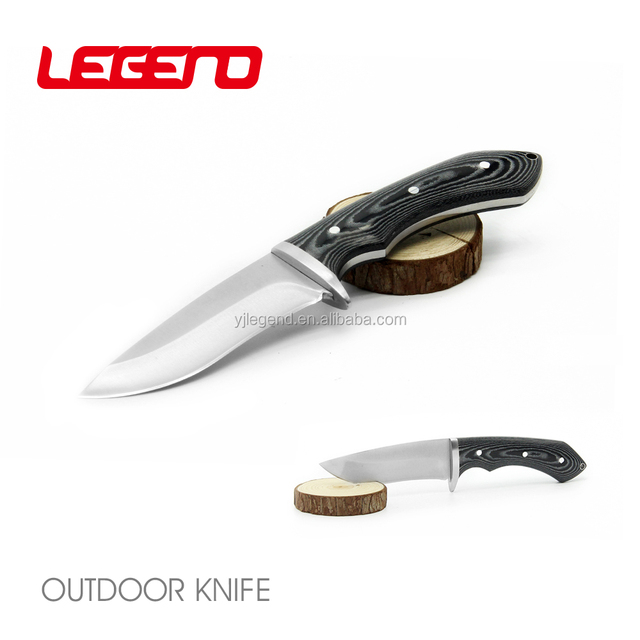HK067 Premium OEM handmade stainless steel fixed blade hunting bowie knife survival knife with micarta handle