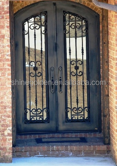 High quality main entrance door design with glass SG-15D030