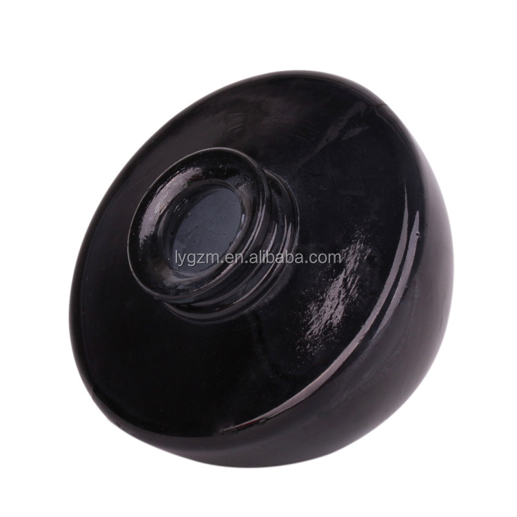 New design150ml aromatherapy essential oil reed diffuser bottle black glass bottle