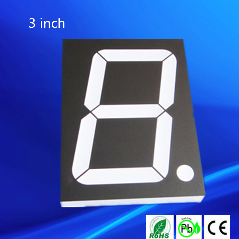 "4 inch 7 segment led display blue 4"" seven segment display"