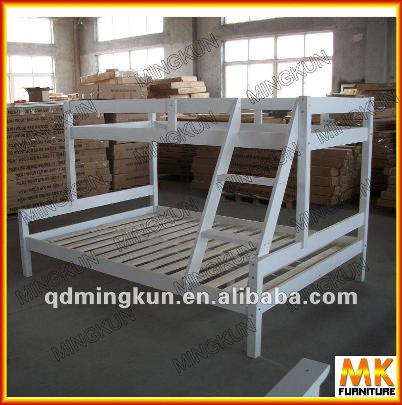 Muebles de madera de pino cama doble cubierta para ni os - Cama doble para ninos ...