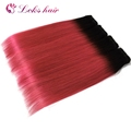 virgin brazilian hair extension natural hair color 1b pink ombre hair 30 inch