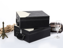 Professional manufactures wholesale custom leather wine packing box gift set