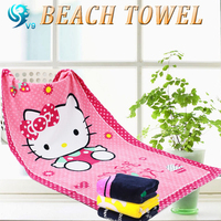 advertising cotton velour vivid reactive printed custom oem usa cartoon towel