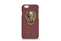 Promotion gift metal 3D MLGB skeleton of lions crocodile leather case for iPhone6plus