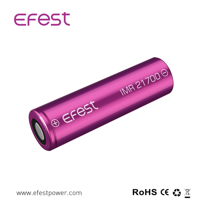 Long cycle life Efest 3700mah 30A IMR 21700 battery for 150W high power mods