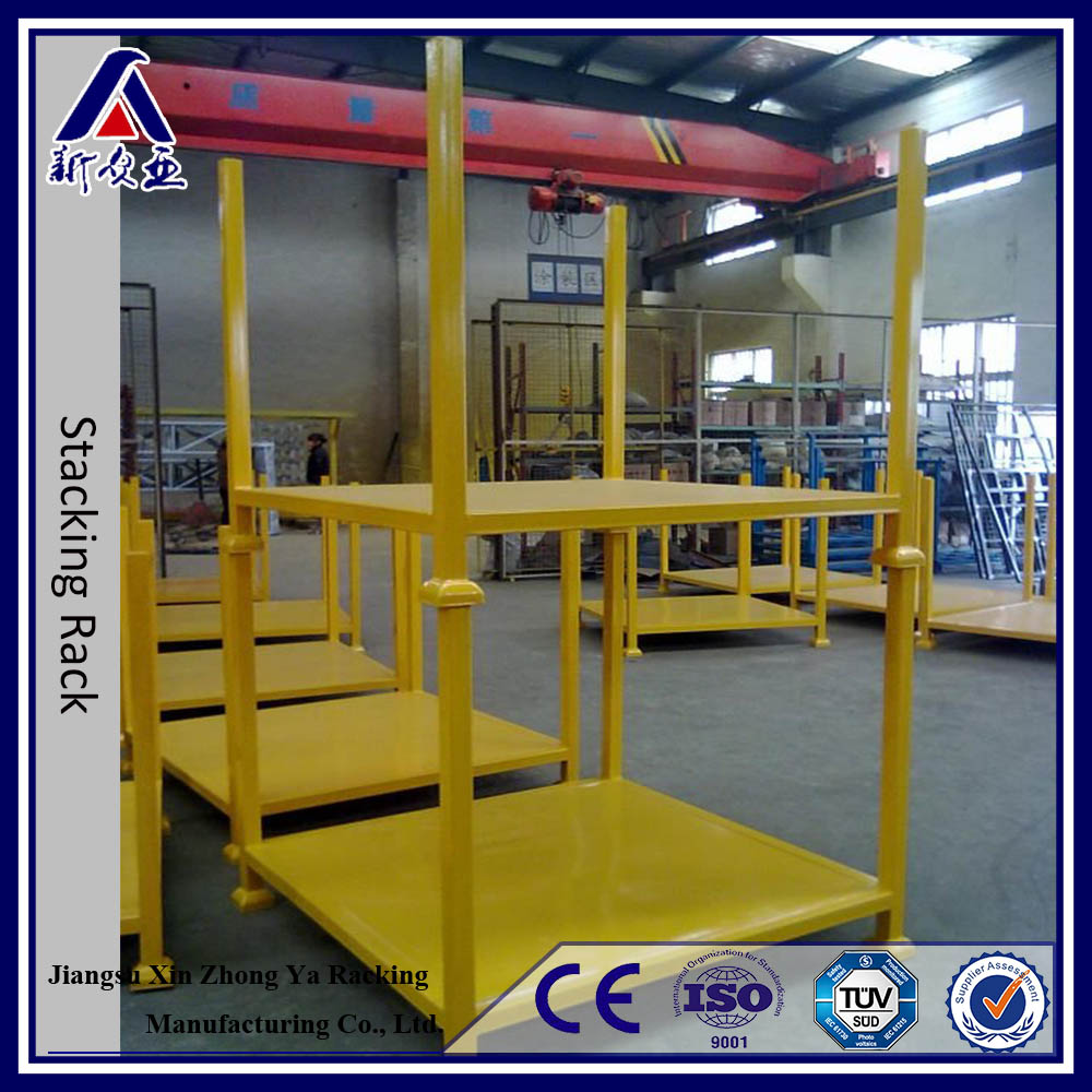 Powder Coating Good Capacity Steel Pallet Stacking Frames