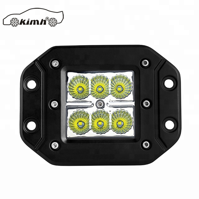 "Truck jeep offroad 3"" square 24v 12volt 18w led work light flush mounted fog light"